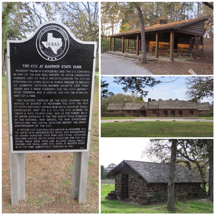 Creations of the CCC and WPA at Bastrop State Park