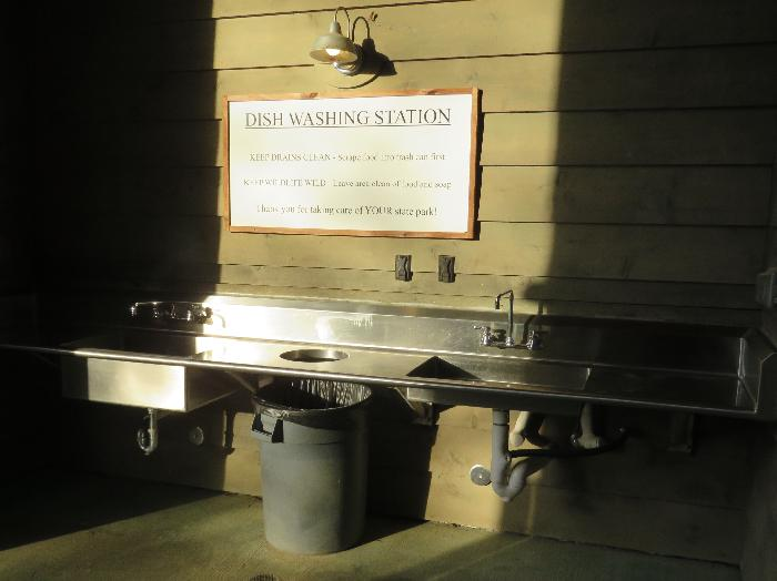 Dish Washing Station at Bastrop StatePark