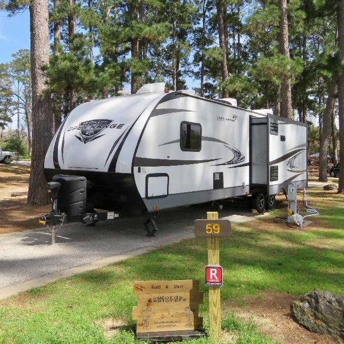 Site 59 in Copperas Creek Camping Area at Bastrop State Park