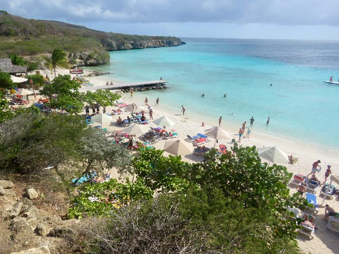 White Sand and Blue Water of Curacao's Playa PortoMari