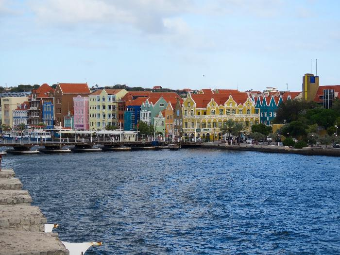 Colorful Dutch Colonial Architecture in Willemstad, Curacao