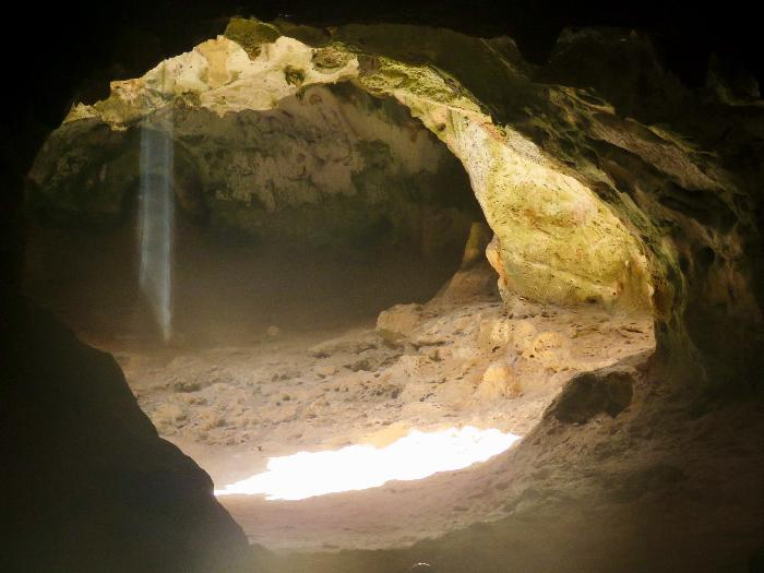 A Ray of Sun Shines in Quadirikiri Cave