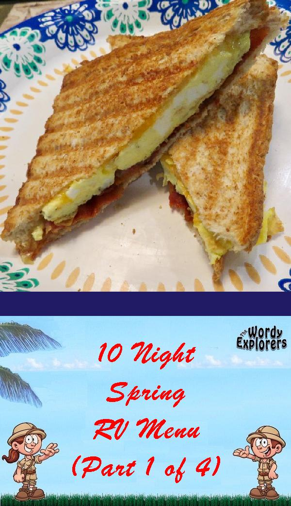 10 Night Spring RV Menu (Part 1 of 4)