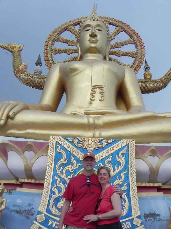 Scott and Stacy at the Big Buddha