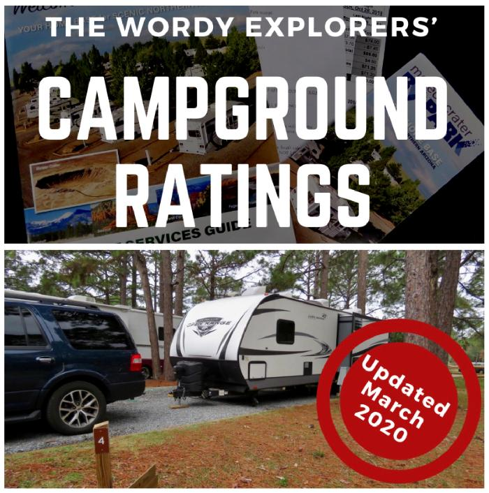 Wordy Explorers' Campground Ratings